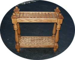 Custom Solid Oak Cane Display Rack by Artisans of the Valley
