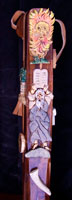 Hand crafted acacia wood Moses theme walking stick by Stanley D. Saperstein of Artisans of the Valley