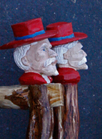 Colonel Rebel - Ole Miss Walking Stick custom made Artisans of the Valley Stanley D. Saperstein