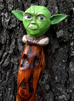 Yoda Character for a Walking Stick